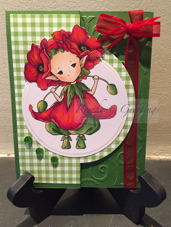 Rowhouse Greetings | Notecard | Poppy Sprite by Aurora Wings