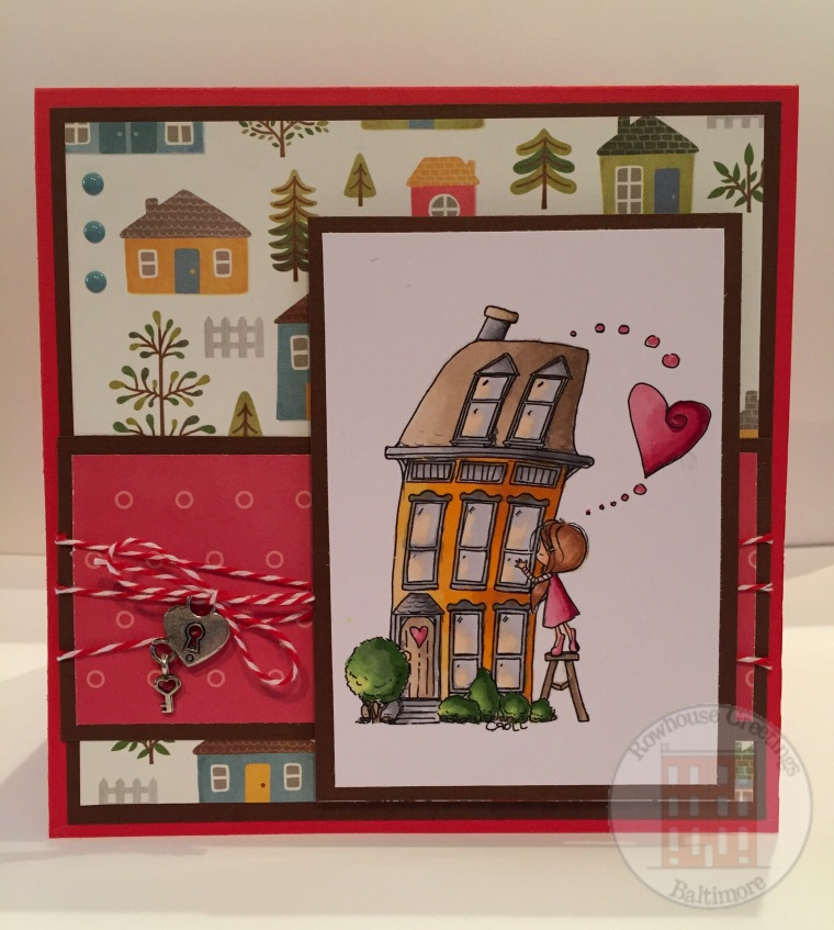 Rowhouse Greetings | New Home |Wryn Heart Home by Tiddly Inks