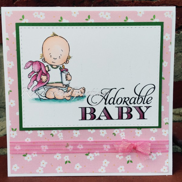 Rowhouse Greetings | New Baby | Spit Happens by Mo's Digital Pencil; Sweetest Baby by Stampin' Up!
