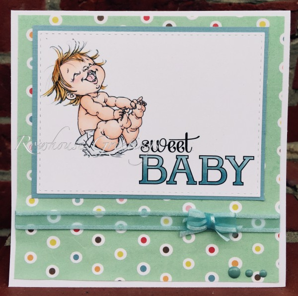 Rowhouse Greetings   New Baby   Happy Baby by Mo's Digital Pencil; Baby We've Grown by Stampin' Up!