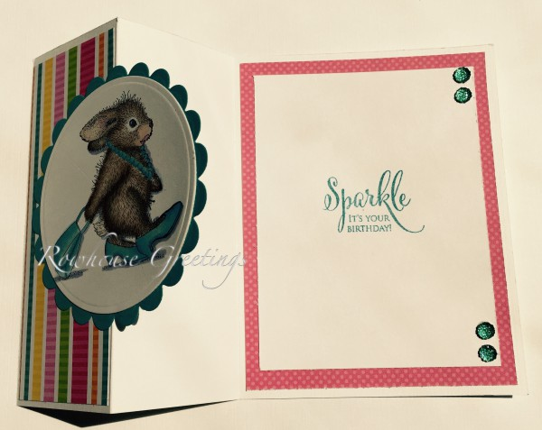 Rowhouse Greetings   Birthday   Diva Hopper by House Mouse Designs