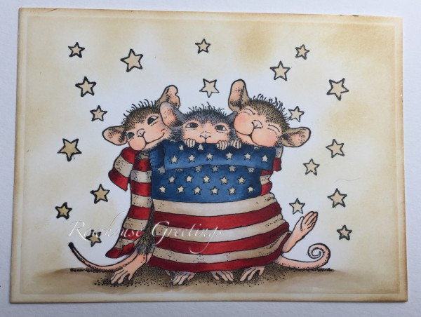 Rowhouse Greetings | Star Spangled Mice by House Mouse Designs