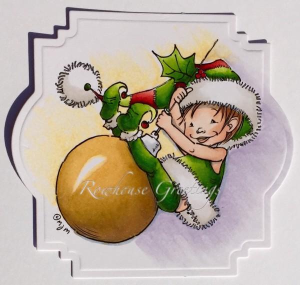 Rowhouse Greetings | Christmas | Little Elf Finn by Mo's Digital Pencil