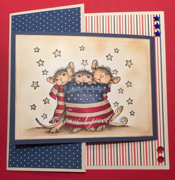 Rowhouse Greetings | Birthday | Star Spangled Mice by House Mouse Designs
