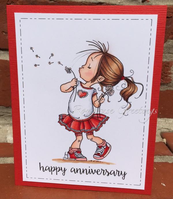 Rowhouse Greetings   Anniversary   Make a Wish by Mo's Digital Pencil
