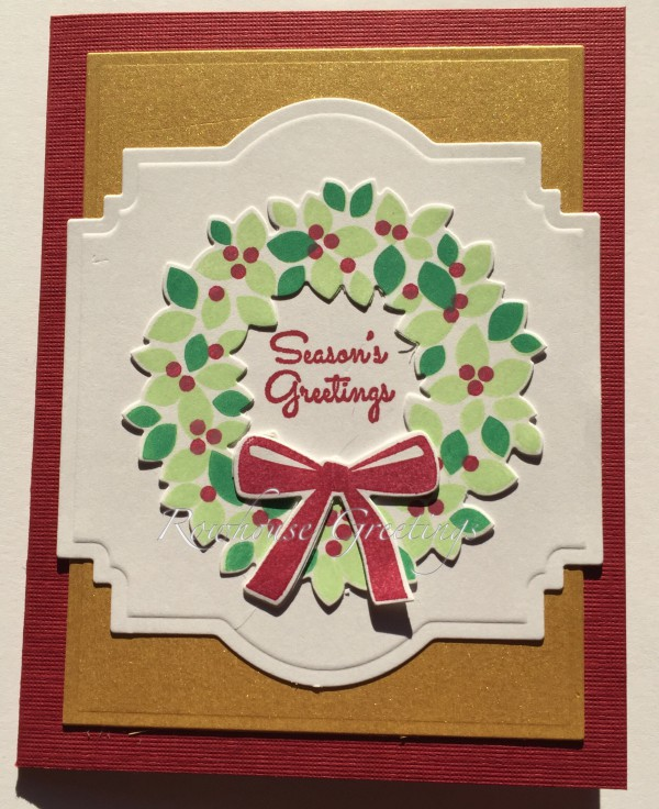 Rowhouse Greetings | Christmas | Wondrous Wreath by Stampin' Up!