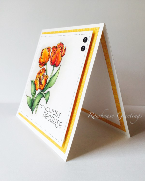 Rowhouse Greetings | Thinking of You | Tuplips by Power Poppy