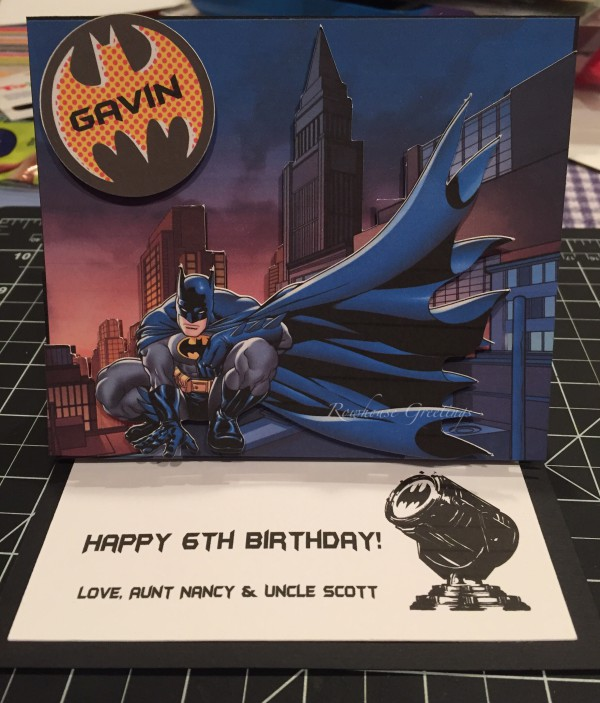 Rowhouse Greetings   Birthday   DC Batman by Silhouette Design Store