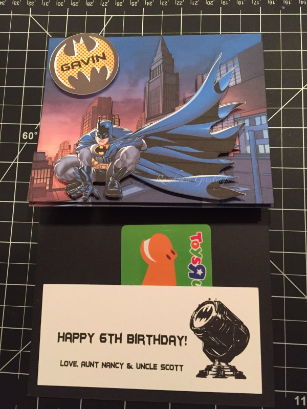 Rowhouse Greetings | Birthday | DC Batman by Silhouette Design Store