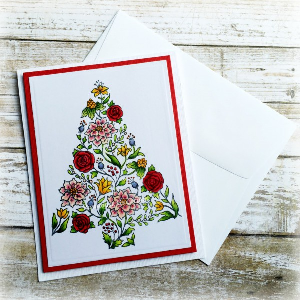 Rowhouse Greetings | Christmas | Botanical Tree by Power Poppy