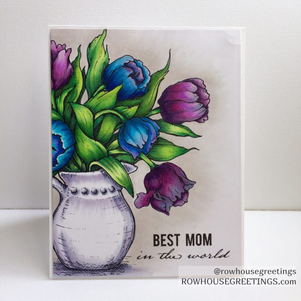 Rowhouse Greetings   Mother's Day   Power Poppy