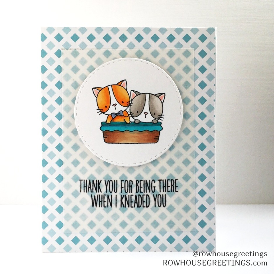 Rowhouse Greetings | Thank You | Cool Cat by My Favorite Things