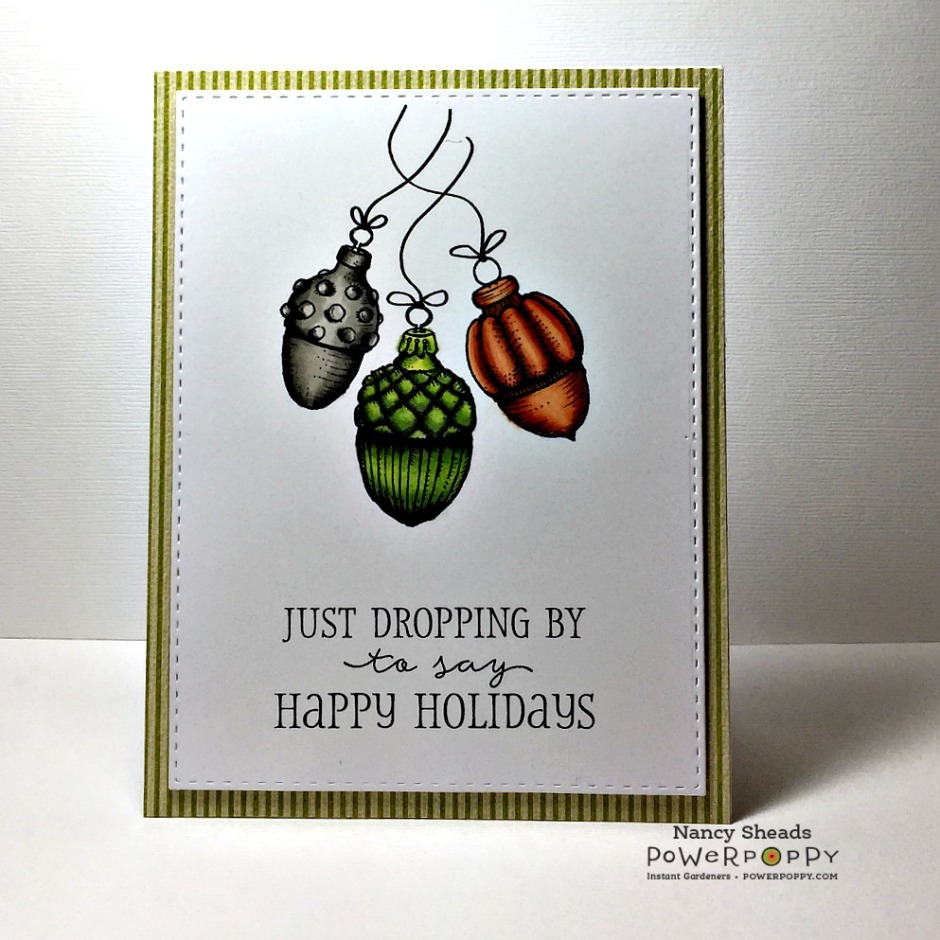 Rowhouse Greetings | Christmas | Acorn Ornaments by Power Poppy