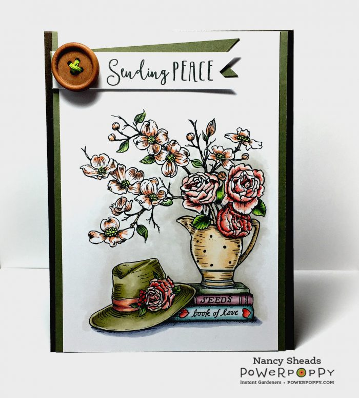 Rowhouse Greetings | Sympathy Card | Graceful Still Life by Power Poppy