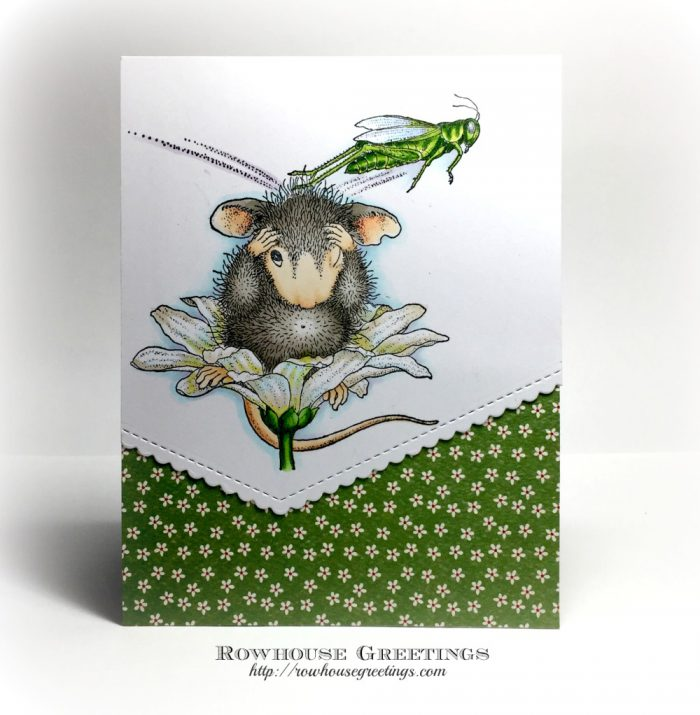 Rowhouse Greetings | Grasshopper Leap by House Mouse Designs