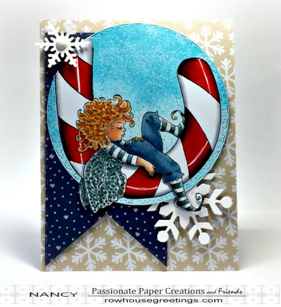 Rowhouse Greetings | Christmas Dreaming by Whimsy Stamps