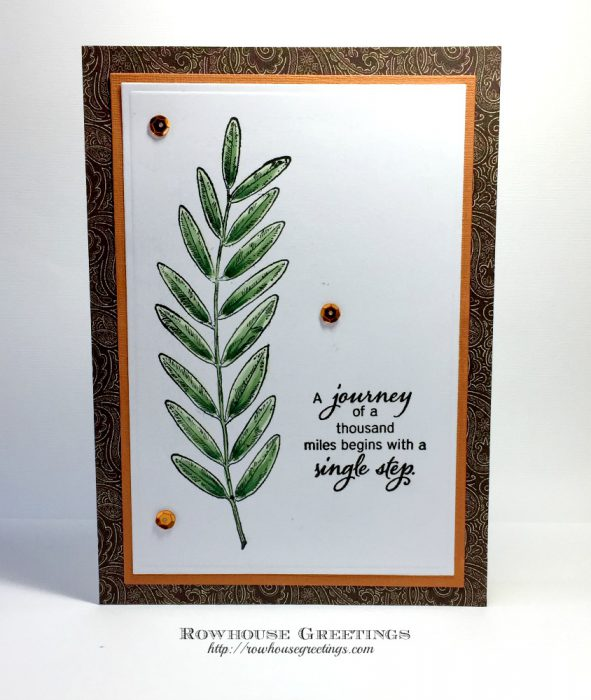 Rowhouse Greetings | Leaves No. 4 by Red Castle Stamps