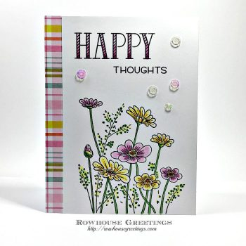 Rowhouse Greetings | Stitched Flowers by Penny Black