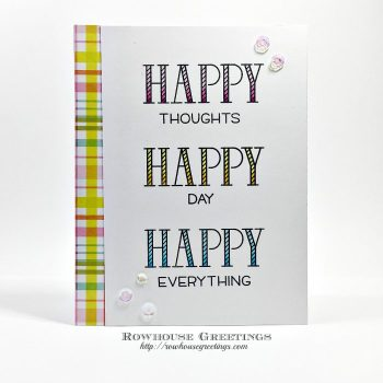Rowhouse Greetings | Happy Happy Happy by Lawn Fawn