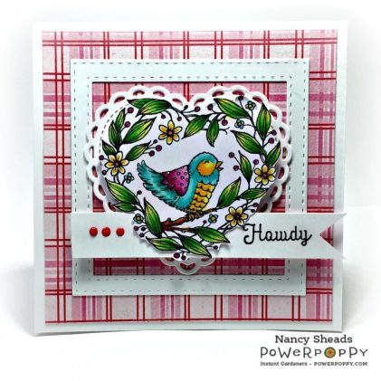Rowhouse Greetings | Folk Heart Stamp Set by Power Poppy