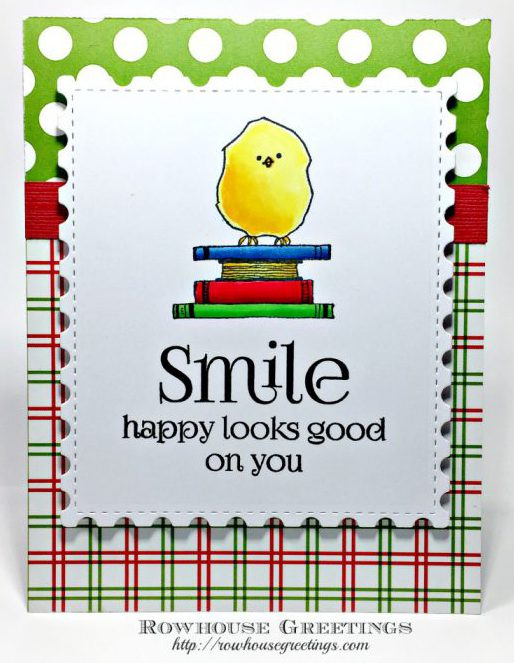 Rowhouse Greetings   Happy Birdie by RubberMoon Stamps