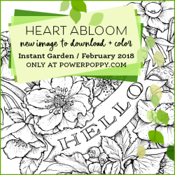 Heart Abloom By Power Poppy