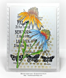 Rowhouse Greetings | Stampers Anonymous Tim Holtz Flower Garden
