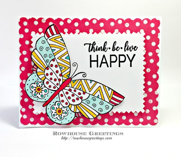 Rowhouse Greetings | Flutterbye by Stampendous! Laurel Burch