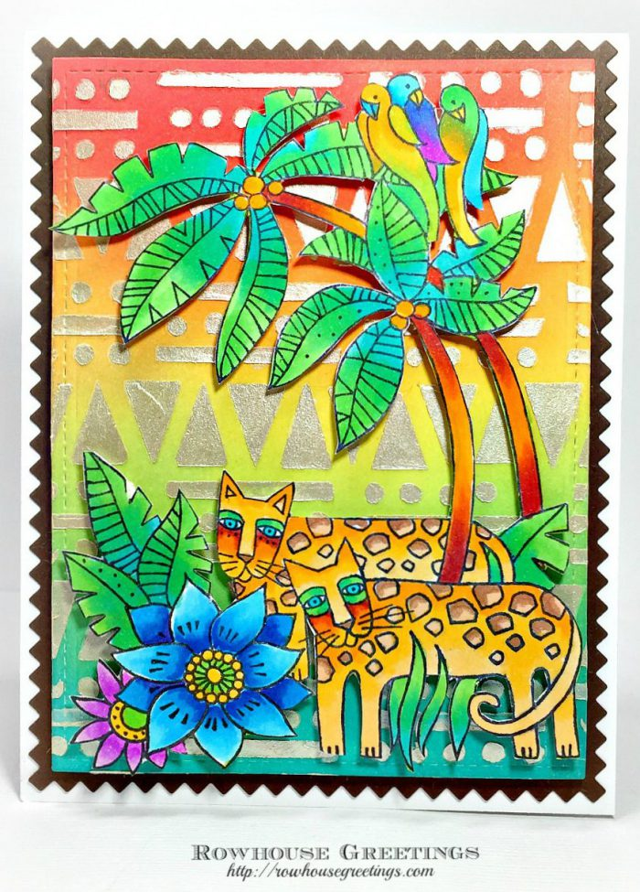 Rowhouse Greetings | Laurel Burch Leopard Jungle by Stampendous!