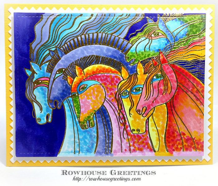 Rowhouse Greetings | Laurel Burch Wild Horses by Stampendous