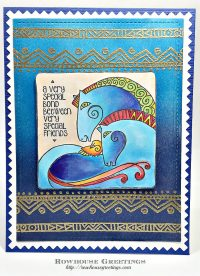 Rowhouse Greetings | Laurel Burch Aquatic Horses by Stampendous