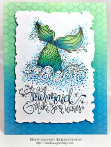 Rowhouse Greetings | Mermaid Tail by Impression Obsession
