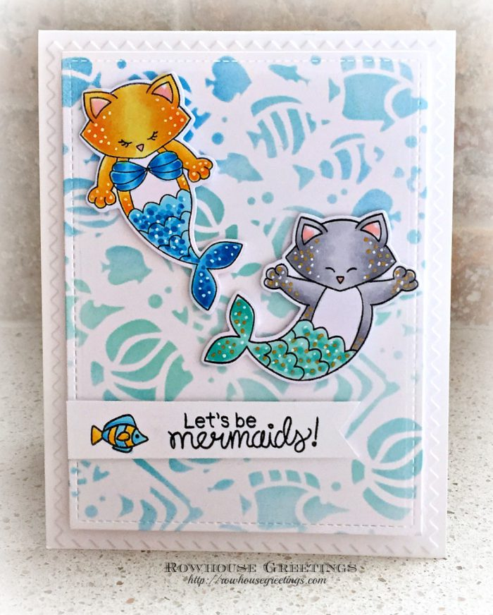 Rowhouse Greetings | Purr-maids by Newton's Nook