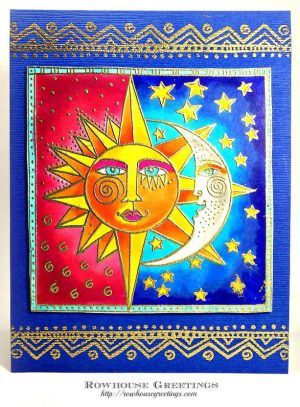 Rowhouse Greetings | Laurel Burch Celestial by Stampendous