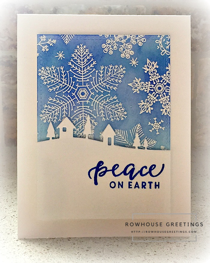 Rowhouse Greetings | Hand Drawn Snowflakes Bold Print by Hero Arts