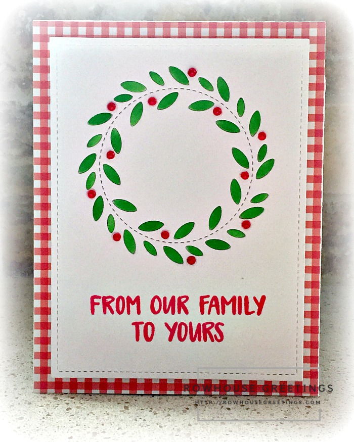Rowhouse Greetings | Stitched Wreath by Poppy Stamps