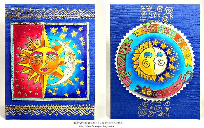 Rowhouse Greetings   Laurel Burch by Stampendous