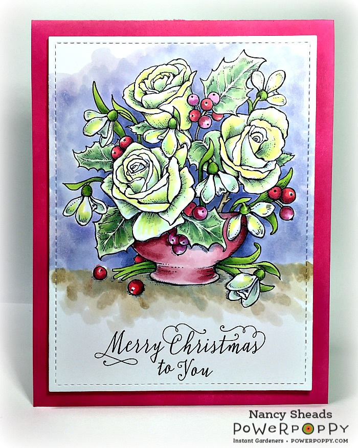 Rowhouse Greetings | Snowdrops & Tea Roses by Power Poppy