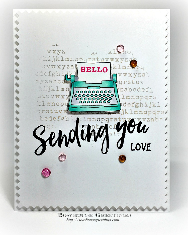 Rowhouse Greetings | My Type by Newton's Nook Designs